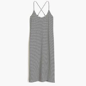J. Crew Strappy Knit Midi Dress Striped Medium M